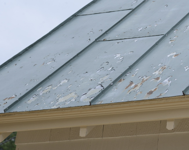 Mike parker services homestyle repairs painting for How to paint tin roof